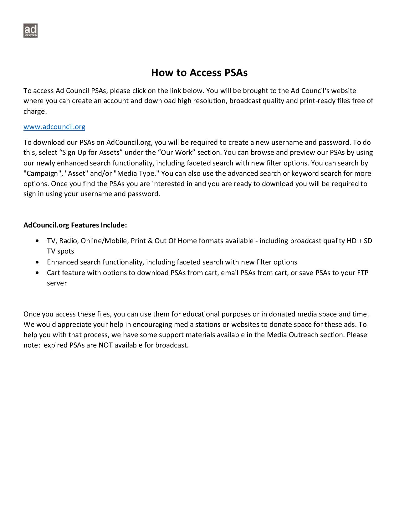 How to Access PSAs_9.10.2020